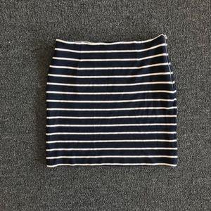Banana Republic Blue & White Striped Knit Skirt